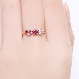 k10定番人気アミュレット宝石7色パワーストーン御守りリング指輪カラーストーン (リング(指輪))