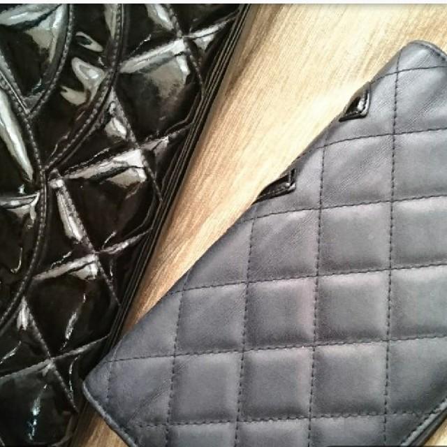 4461c258422f CHANEL(シャネル)のCHANELカンボン二つ折り長財布黒ピンクシャネルエナメルパテント