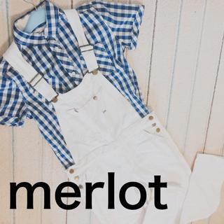 メルロー(merlot)のギンガムチェックシャツ(シャツ/ブラウス(半袖/袖なし))