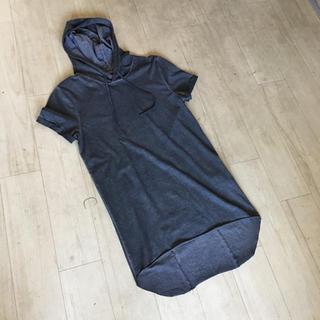 エイチアンドエム(H&M)のh&m  ロング  フード  シャツ  綺麗(Tシャツ/カットソー(半袖/袖なし))