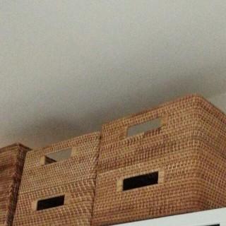 ムジルシリョウヒン(MUJI (無印良品))の新品同様 無印良品 ラタン 角型 バスケット ボックス 中 重なる 藤 無印 2(バスケット/かご)