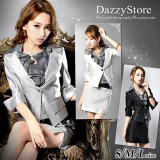 デイジーストア(dazzy store)のAva❤︎サテンミニスーツ 七分袖 キャバ(スーツ)