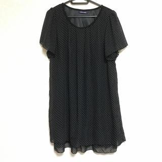 水玉ワンピース 黒(ミニワンピース)