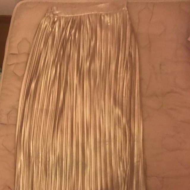 PUNYUS(プニュズ)のゴールドプリーツスカート レディースのスカート(ロングスカート)の商品写真