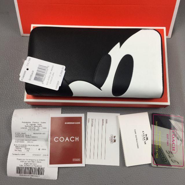 4a6456f8c546 COACH(コーチ)のコーチ COACH 新品未使用 ディズニー ミッキー 長財布 F54000 横顔
