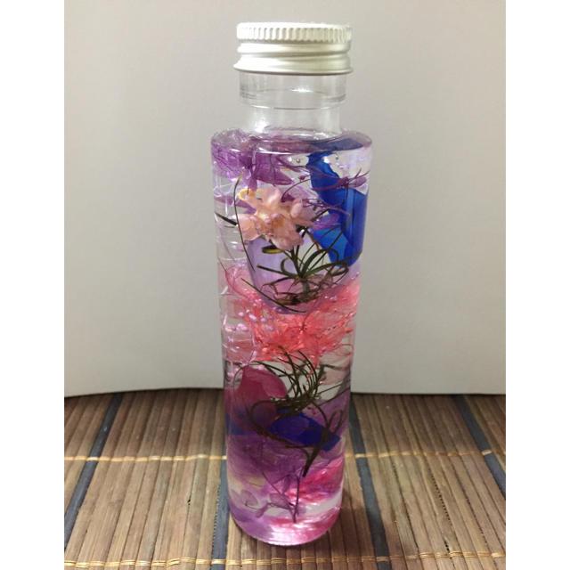 ハーバリウム(ピンク、パープル、ネイビー) ハンドメイドのフラワー/ガーデン(その他)の商品写真