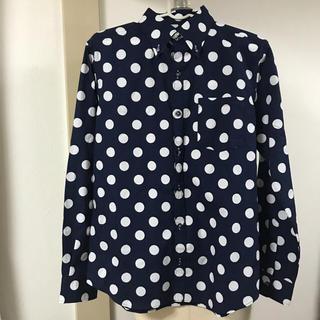 ギャルソンウェーブ(Garcon Wave)の美品ネイビードット長袖シャツ(シャツ)