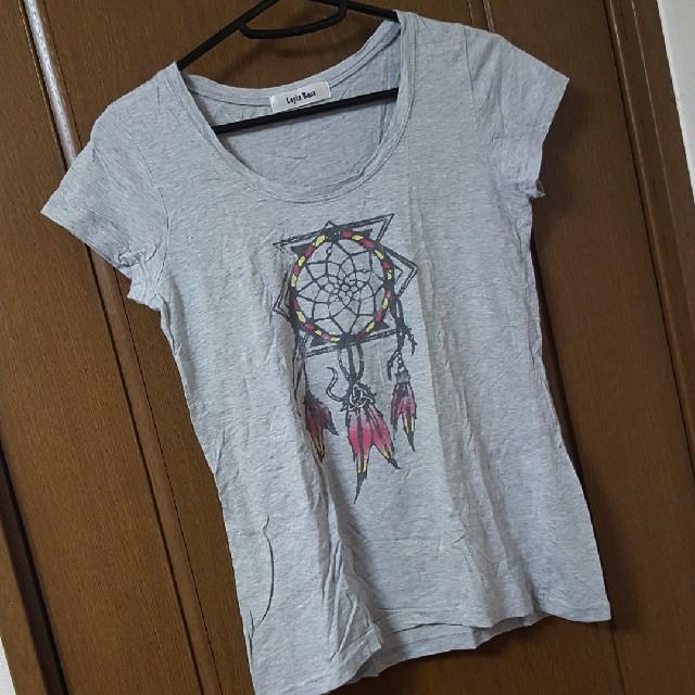 グレーTシャツ レディースのトップス(Tシャツ(半袖/袖なし))の商品写真