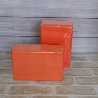 ヨガブロック 高密度EVA 軽量 オレンジ 2個(ヨガ)