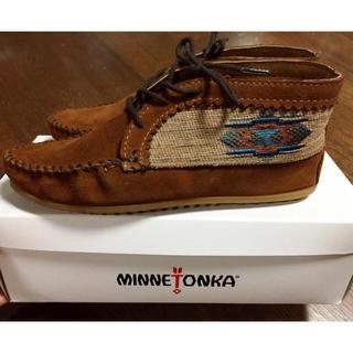 ミネトンカ(Minnetonka)の新品未使用☆ミネトンカMINKETONKAエルパソモカシン ブラウン茶色(ブーツ)