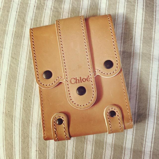 Chloe - 未使用新品 ♪ Chloé  クロエ ヌメ革ケース*の通販 by ぴぽちゃん's shop|クロエならラクマ