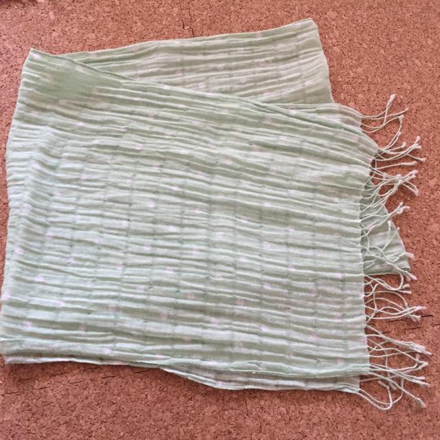 MUJI (無印良品)(ムジルシリョウヒン)のグリーン系ストール レディースのファッション小物(ストール/パシュミナ)の商品写真