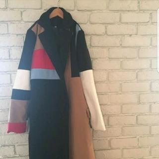 ザラ(ZARA)の♡マルチカラーブロックコート♡(ロングコート)