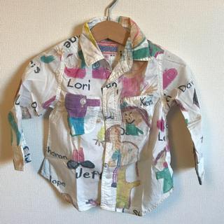 デニムダンガリー(DENIM DUNGAREE)のDD 落書きシャツ 90cm ドットシャツ(その他)