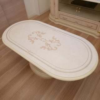 サルタレッリ センターテーブル テーブル 姫家具 白家具 ロココ調(ローテーブル)