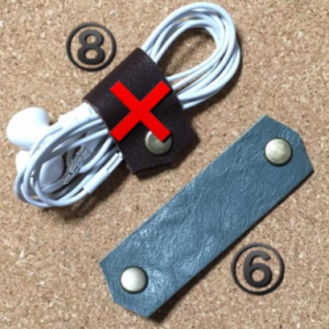 【TAO様専用】 コードクリップ ①ブラック 1個300円 ハンドメイドのファッション小物(その他)の商品写真