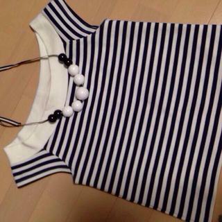 スライ(SLY)のオフショルボーダー SLY 新作(Tシャツ(半袖/袖なし))