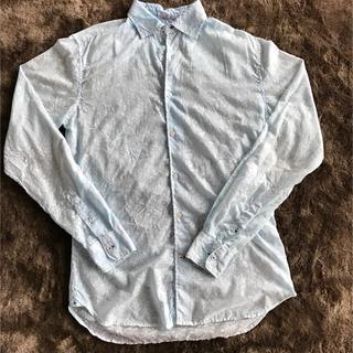 ガネーシュ(GANESH)のGANESH シャツ 水色 美品(シャツ)