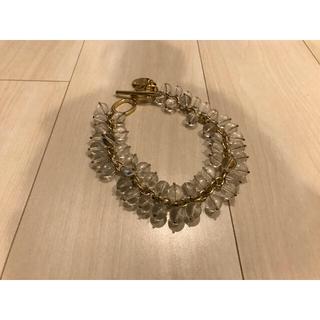 イーエムフルール(e.m. Fleur)のクリスタル ネックレス クリア GOLD 綺麗 かわいい ウェディング 花嫁(ネックレス)