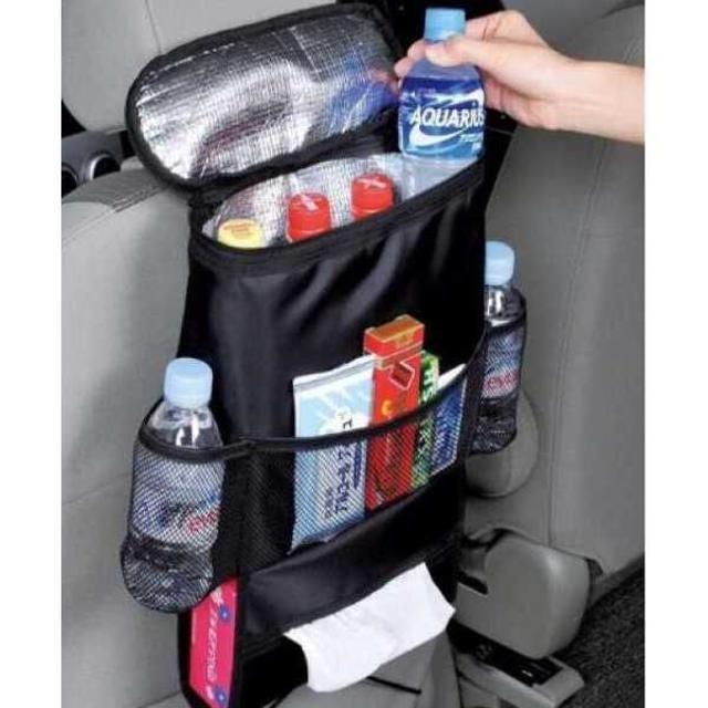旅行 お出かけに マルチ 保冷 保温 シートバック ポケット (ブラック) 自動車/バイクの自動車/バイク その他(その他)の商品写真