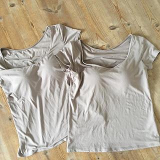 ユニクロ(UNIQLO)のユニクロエアリズムブラトップTシャツ2枚Lサイズ(その他)