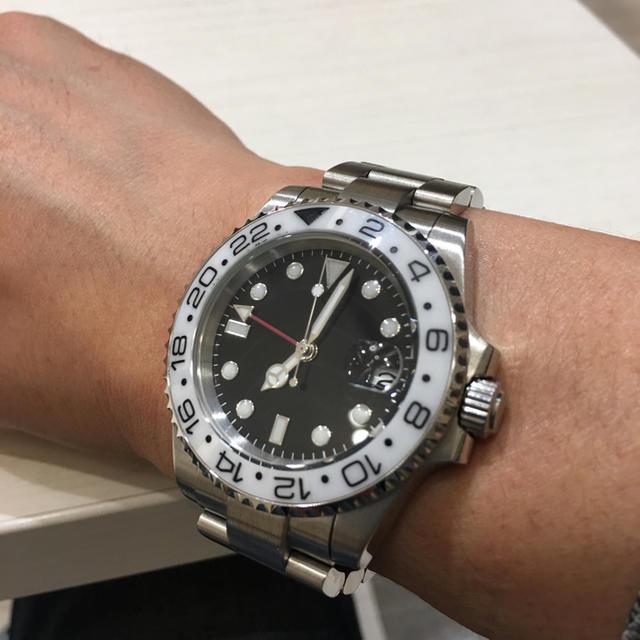 07d6f633c9 桐咲様専用 ノーロゴ GMT 自動巻 ホワイトベゼルの通販 by いっちー's ...