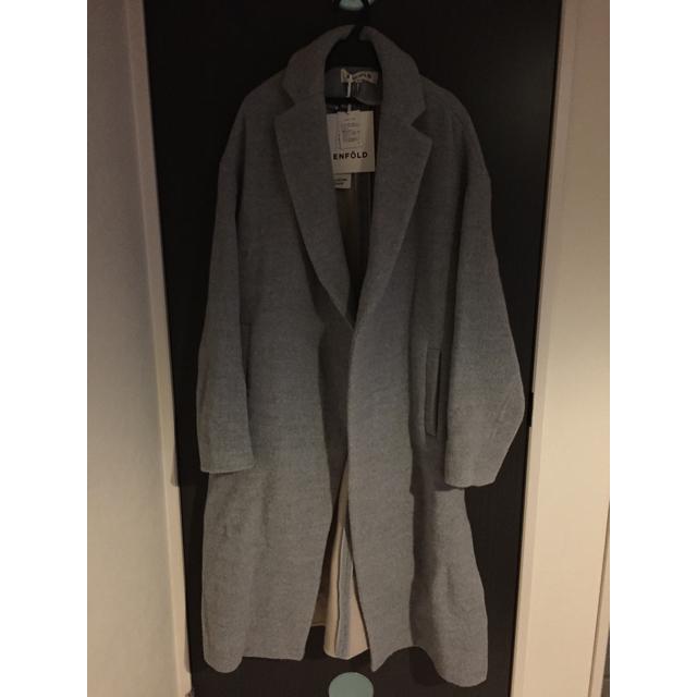 ENFOLD(エンフォルド)のエンフォルド リバーウールスリットコート ドゥーズィエム レディースのジャケット/アウター(チェスターコート)の商品写真