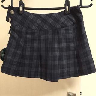アベイル(Avail)の新品 タグ付き チェック プリーツ スカート グレー モノトーン(ミニスカート)
