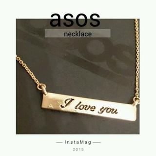 エイソス(asos)のasos プレートネックレス新品(ネックレス)