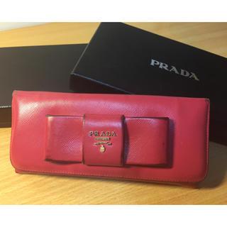 プラダ(PRADA)のジャンク 正規品箱付きPRADAピンクリボン財布(財布)
