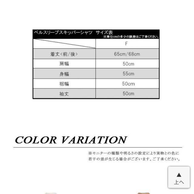 キャンディースリーブ レディースのトップス(シャツ/ブラウス(長袖/七分))の商品写真