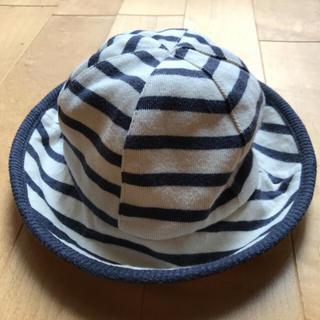 ムジルシリョウヒン(MUJI (無印良品))の無印良品 ボーダー 帽子 size48㎝(帽子)