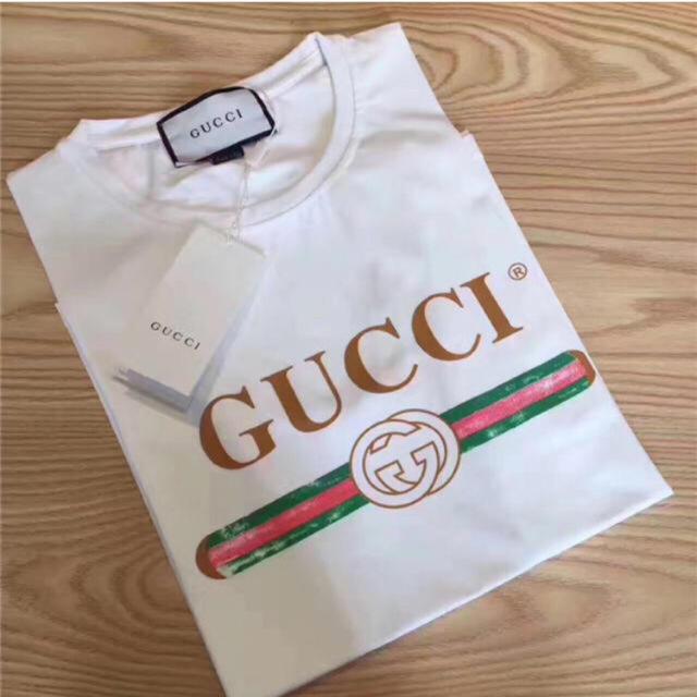 9b9218033153 Gucci - GUCCI Tシャツ S 白 ロゴの通販 by beebshop グッチならラクマ
