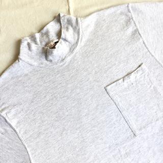 アートヴィンテージ(ART VINTAGE)のUSA製 デッドストック Tough Ts ポケt モックネック ロンt 無地t(Tシャツ/カットソー(七分/長袖))