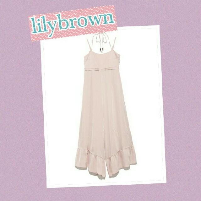 Lily Brown(リリーブラウン)のlilybrown 人気品ピンクロンパース レディースのパンツ(オールインワン)の商品写真