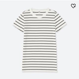 ユニクロ(UNIQLO)のリブボーダークルーネックTセット(Tシャツ(半袖/袖なし))
