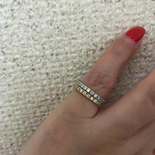 ベーネ・ベーネ K18 ダイヤモンド リング WG.YG 2本セット(リング(指輪))