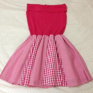バービー(Barbie)のBarbie♡ギンガムチェックワンピース(ミニワンピース)