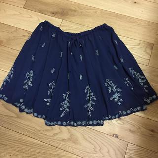 マーキュリーデュオ(MERCURYDUO)のMERCURYDUO♡ビジュー刺繍スカート(ミニスカート)