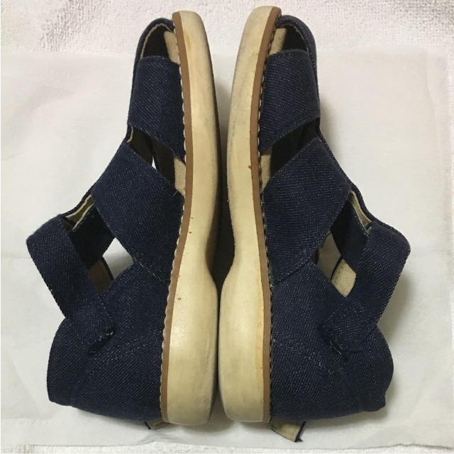 mikihouse(ミキハウス)のミキハウス 15㌢ デニムサンダル キッズ/ベビー/マタニティのキッズ靴/シューズ (15cm~)(サンダル)の商品写真