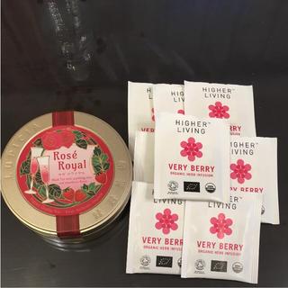 ルピシア(LUPICIA)のルピシア 紅茶缶ロゼロワイヤル&オーガニックハーブティー (茶)