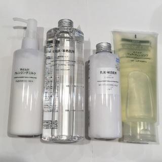 ムジルシリョウヒン(MUJI (無印良品))のクレンジング二点、化粧水、乳液(クレンジング / メイク落とし)