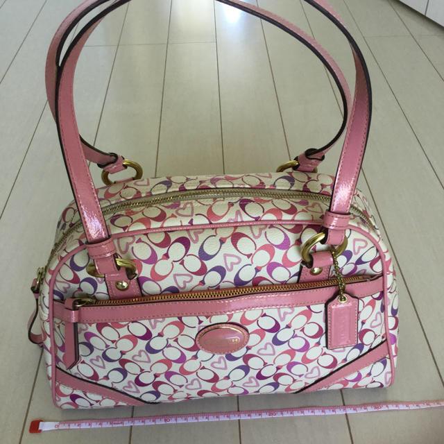 COACH(コーチ)のコーチ☆ボストンバッグ☆白、ピンク、パープル レディースのバッグ(ボストンバッグ)の商品写真