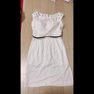 JEAN MACLEAN ドレス 白 ホワイト タイト(ナイトドレス)