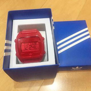 アディダス(adidas)のアディダス 腕時計 Sydney レッド デジタルウォッチ(腕時計)