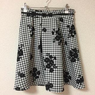 ロディスポット(LODISPOTTO)のロディ♡ギンガムチェック×花柄フレアスカート(ミニスカート)