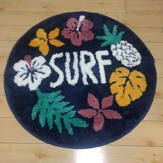 シマムラ(しまむら)のSURF サーフ パイナップル ハイビスカス マット 新品 西海岸 玄関マット(玄関マット)