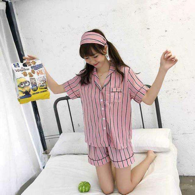 【激カワ】 ストライプ ルームウェア ピンク トレンド レディースのルームウェア/パジャマ(ルームウェア)の商品写真