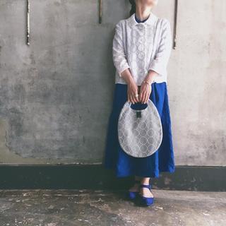 ミナペルホネン(mina perhonen)のmina perhonen タンバリン ジャケット ホワイト 半額以下(テーラードジャケット)