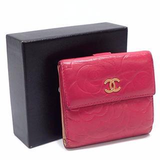 シャネル(CHANEL)のA301 シャネル カメリア ラムスキン 財布 レディース ピンク(財布)